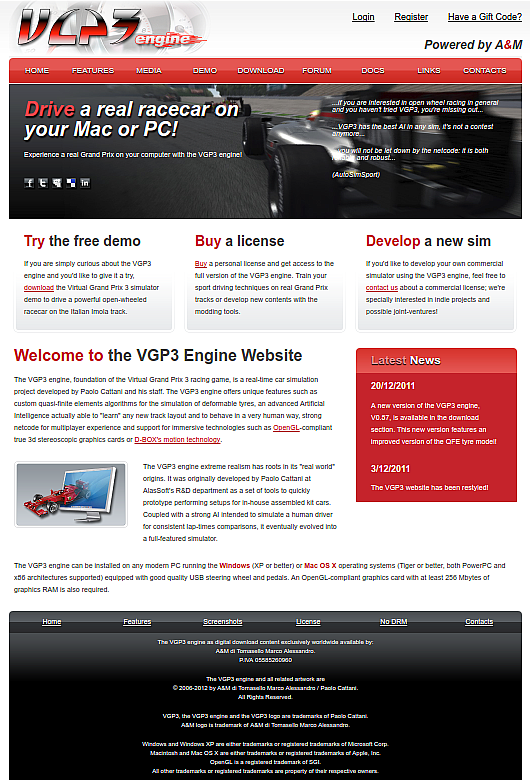 VGP3 Engine Website
